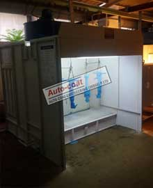 Side Draft Spray Booth